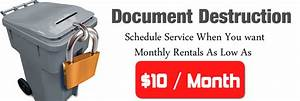 scheduled shredding plan rent shredding bins 10 month With document shredding franchise