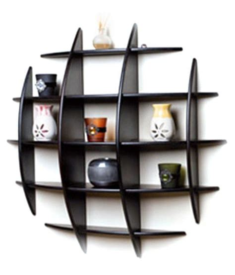 floating wall shelves floating book shelf in black buy at best price in