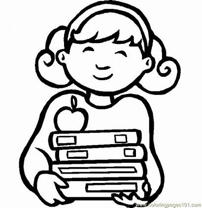 Coloring Pages Student Ecolier Preschool Coloriage Lunch