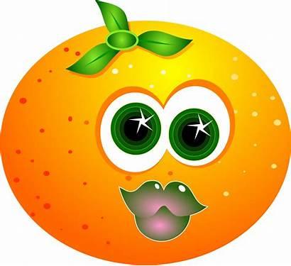 Orange Cartoon Fruit Clipart Clip Clker Cliparts