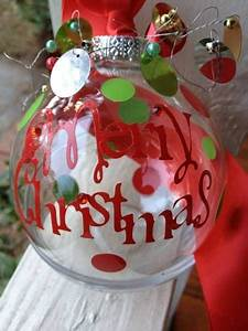 christmas ornament vinyl letters cut with a cricut machine With vinyl lettering for christmas ornaments