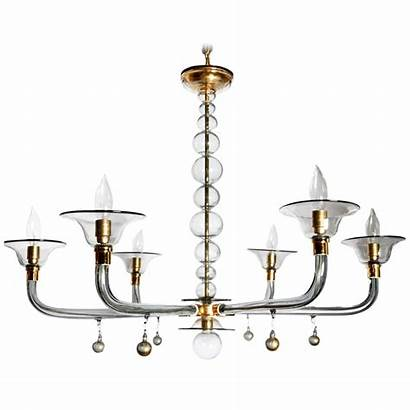 Chandelier Modern Century Mid Glass Decaso Contemporary
