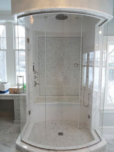 Curved Shower Door by Curved Or Bent Glass Creative Mirror Shower