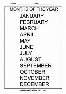 Months Of The Year  U2013 1 Worksheet    Free Printable