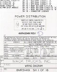 Mack Wiring Diagram Chassis Ct 2004