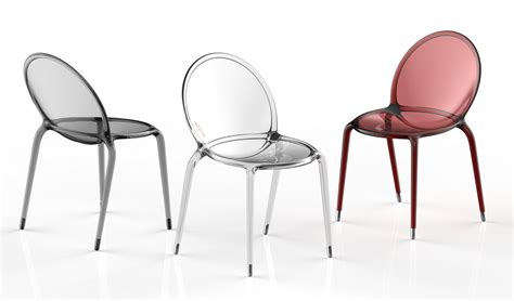 chaise en polycarbonate stackable polycarbonate chair loop by roche bobois design