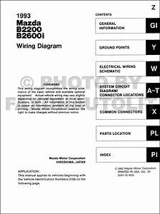 199mazda B2600i B220pickup Truck Wiring Diagram Manual Original
