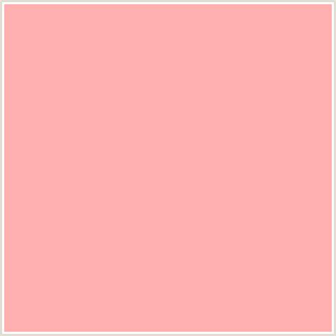 Light Red Color by Ffafaf Hex Color Rgb 255 175 175 Light Red Pink