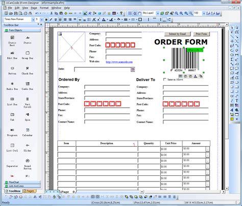 electronic form design form printing form filling