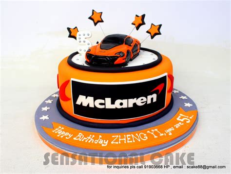 sensational cakes mclaren p concept theme  cake
