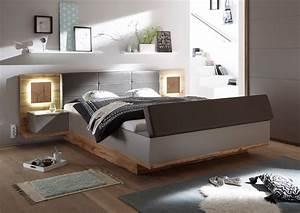 Bettbank Mit Stauraum : pol power capri xl bettanlage grau wildeiche m bel ~ Watch28wear.com Haus und Dekorationen