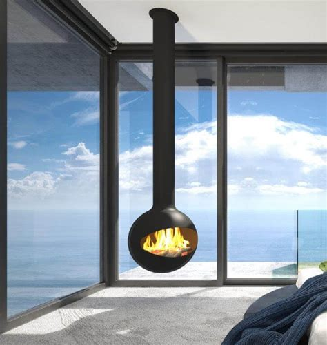 halo hanging fireplace suspended fireplaces beauty fires