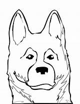 Shepherd German Coloring Dog Puppy Pages Drawing Print Shepherds Dogs Australian Drawings Draw Breeds Getdrawings Animals Animal Popular Easy Coloringhome sketch template