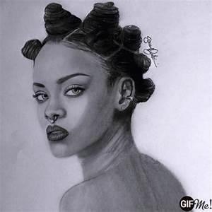 My drawings of Rihanna by SamuBarto ART | WHI