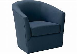 Brynn Indigo Swivel Chair - Chairs (Blue)