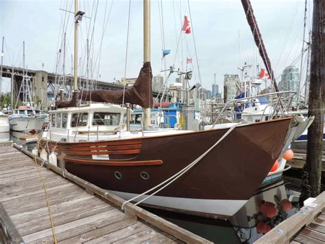 """The fisher 37 is the epitome of the large, powerful motor sailer. Photographic Allsorts: Fisher 37 """"Georgia Brown"""" At ..."""