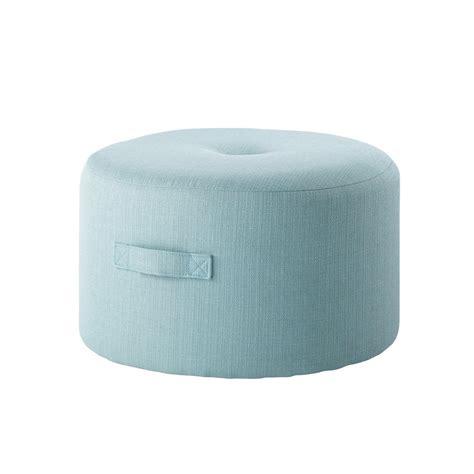 déco chambre bébé vintage pouf en tissu bleu boréal maisons du monde