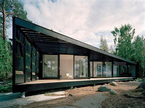 hillside cabin plans modern home design scandinavian summer house floor