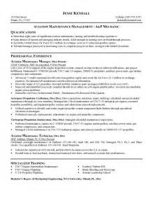 Free Resume For Maintenance Manager by Free Aviation Maintenance Manager Resume Exle