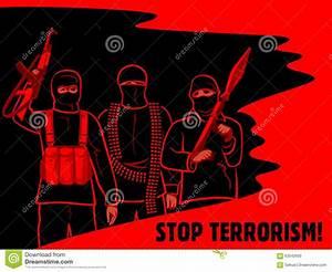 Stop Terrorism Poster Stock Photo - Image: 63042693