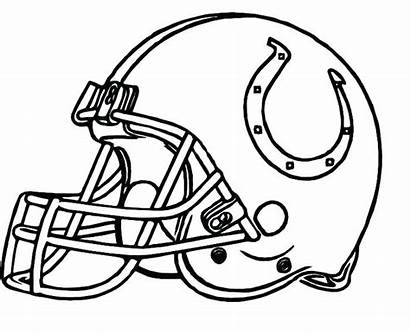 Football College Coloring Pages Helmet Printable Team