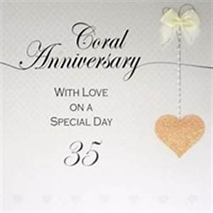 35th wedding anniversary coral With 35th wedding anniversary symbol