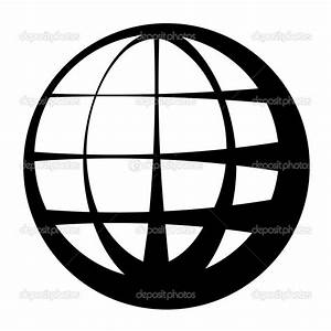 Best Photos of Black And White Globe Outline - Black and ...