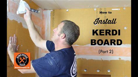 How to Install Schluter KERDI-BOARD in a Bathroom Part 2 ...