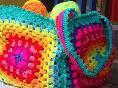 all uncinetto le fragole di stoffa borsa arcobaleno di all