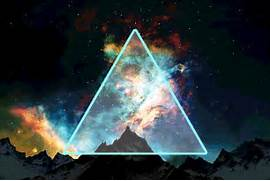 hipster galaxy   Tumblr  Hipster Triangle Galaxy Wallpaper