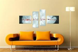 tableau gris blanc quadriptyque evasion celestre grand With couleur moderne pour salon 9 tableau panoramique noir blanc design grand format