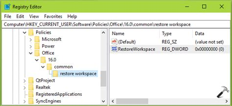disable  document recovery task pane