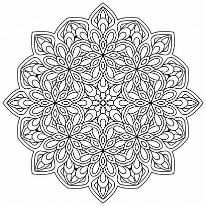 Mandala Mandalas Coloring Zen Pages Flowers Printable