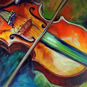 Violin Abstract 1818 Painting by Marcia Baldwin