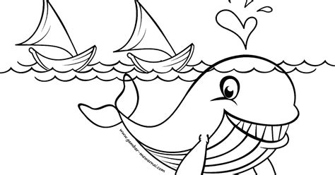 gambar mewarnai ikan paus