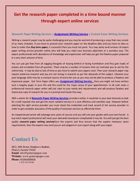 Paper Writing Service College by Esl Research Paper Writing Service For College