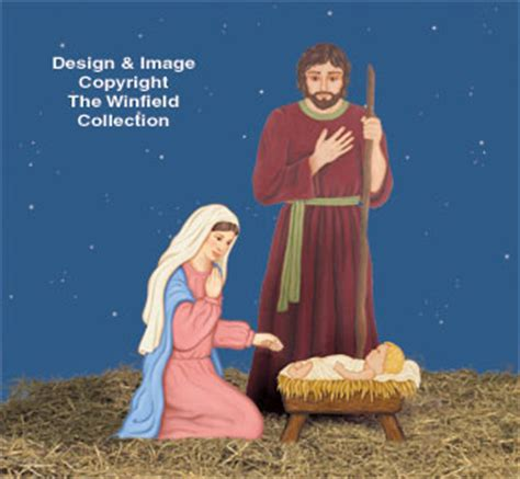 nativities angels holy family woodcraft pattern set
