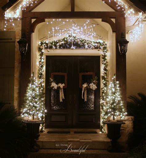 all things beautiful christmas porch garland