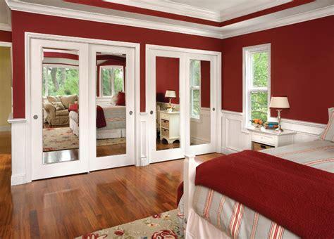 meridien closet doors beveled mirror wood frame
