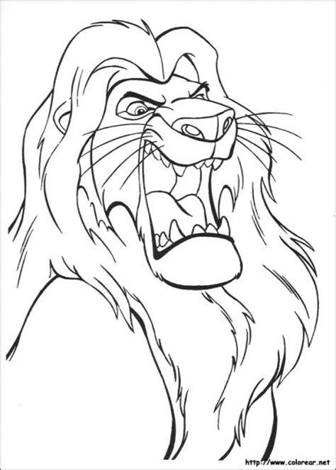 dibujos  colorear del rey leon colorear imagenes