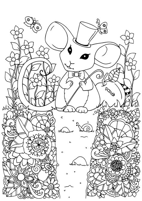 mouse  print mouse kids coloring pages