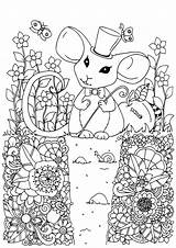 Coloring Mouse Pages Cute Adult Print Printable Children Animals Popular Most Coloringbay Justcolor sketch template