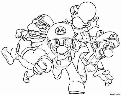 Colouring Mario Coloring Pages Super Before Exemplars