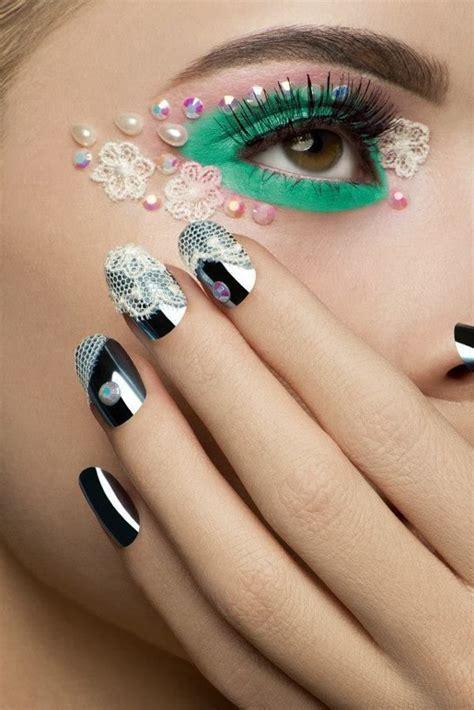 lace embellished makeup  eye rock