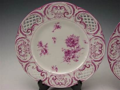 Porcelain German Kpm Antique Reticulated Painted Hand