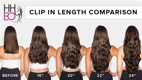 length hair extensions chart synthetic