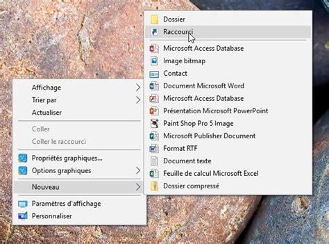 configuration bureau windows 10 une icône vers le panneau de configuration