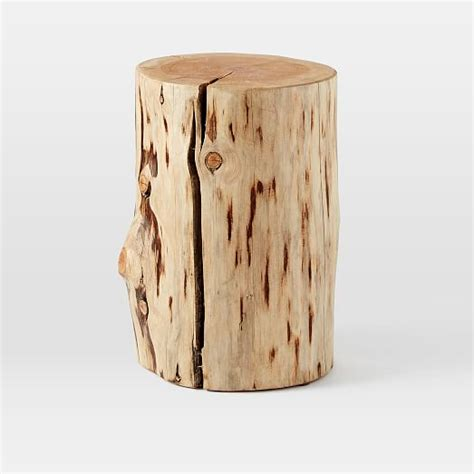 Natural Tree Stump Side Table  West Elm. Polka Dot Desk Accessories. Table Lamp Shade. Students Desk. Teal Drawer Pulls