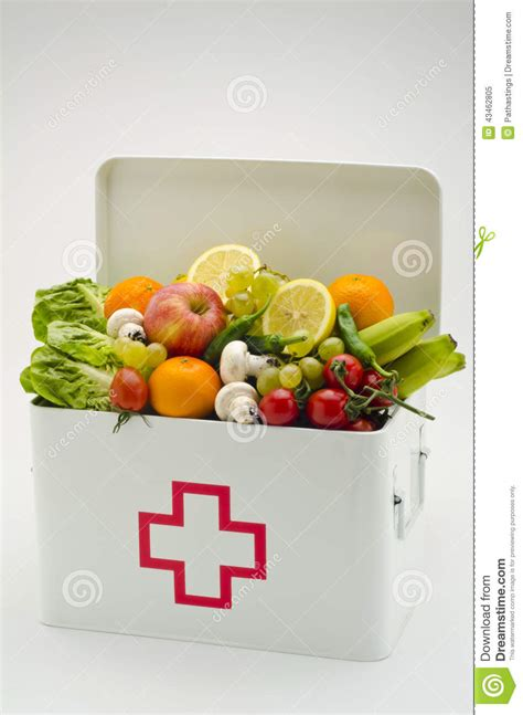 cuisine aid healthy food aid box filled with fruits and