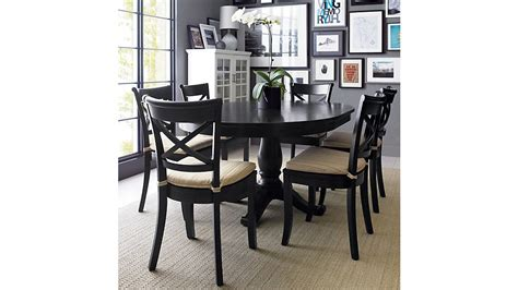 crate and barrel round dining table avalon 45 quot black round extension dining table crate and